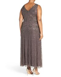 Pisarro Nights - Multicolor Beaded Sleeveless Maxi Dress (plus Size) - Lyst