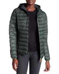 Save The Duck - Green Giga Hooded Jacket - Lyst
