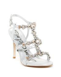 Sam Edelman | Metallic Selelna Embellished Sandal Pump | Lyst