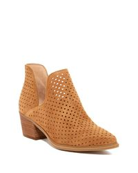Steven by Steve Madden | Brown Danese Perforated Ankle Boot | Lyst