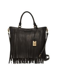 Frye | Black Heidi Fringe Leather Tote | Lyst