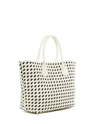 Deux Lux White St. Lucia Tote