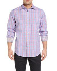Bugatchi - Blue Classic Fit Sport Shirt for Men - Lyst