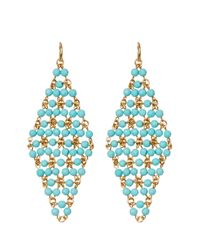 Diane von Furstenberg - Blue Honey Drape Earrings - Lyst
