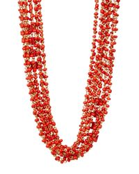 Diane von Furstenberg | Red Susan Drama Necklace | Lyst