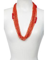 Diane von Furstenberg | Red Susan Drama Necklace | Lyst