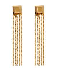 Diane von Furstenberg - Metallic Cube Chain Tassel Earrings - Lyst