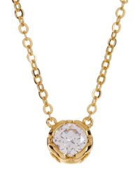 Diane von Furstenberg - Metallic Cz Charm Necklace - Lyst