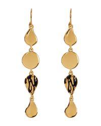 Diane von Furstenberg | Metallic Dew Drop Linear Drop Earrings | Lyst