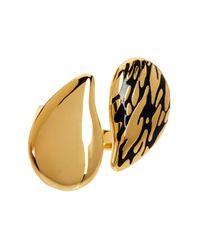 Diane von Furstenberg - Metallic Yin Yang Dew Drop Ring - Lyst