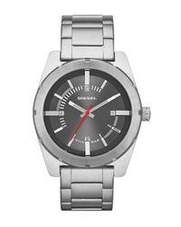 DIESEL | White Men's Double Down Bracelet Watch for Men | Lyst