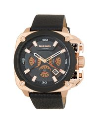 DIESEL | Multicolor Men's Analog Leather Strap Watch for Men | Lyst