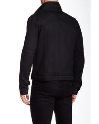 Helmut Lang Black Faux Shearling Trim Jean Jacket for men