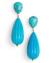 Zenzii - Blue Teardrop Earrings - Lyst