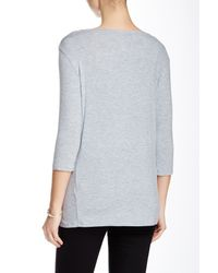 Majestic Filatures - Gray A-line Boatneck Tee - Lyst