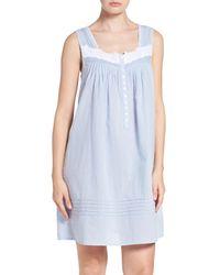 Eileen West - Blue Clip Cotton Nightgown - Lyst
