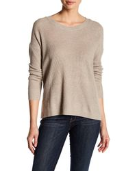 Madewell Natural Hi-lo Knit Pullover Sweater