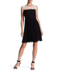 ERIN Erin Fetherston - Black Astrid Pleated Lace Dress - Lyst