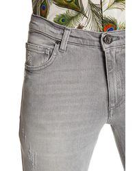 Versace | Gray Slim Fit Distressed Jean for Men | Lyst