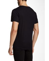 Versace Jeans - Black V-neck Graphic Tee for Men - Lyst