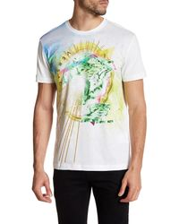 Versace - White Graphic Print Tee for Men - Lyst