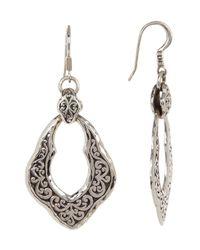 Lois Hill | Metallic Sterling Silver Handcrafted Scroll Drop Earrings | Lyst
