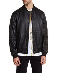Versace | Black Genuine Leather Jacket for Men | Lyst