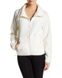 Betsey Johnson | Natural Polar Fleece Shawl Collar Jacket | Lyst