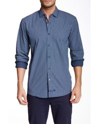 English Laundry - Blue Long Sleeve Woven Shirt for Men - Lyst