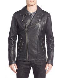 Lamarque | Black Moto Leather Biker Jacket for Men | Lyst