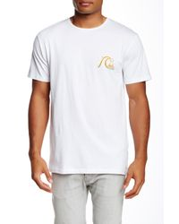 Quiksilver - White Bubbly Frother Regular Fit Graphic Tee for Men - Lyst