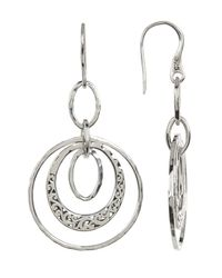 Lois Hill | Metallic Sterling Silver Large Handcrafted Scroll Multi Ring Drop Earrings | Lyst