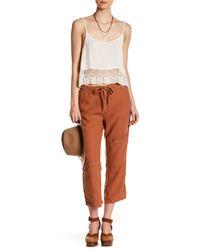Free People | Multicolor Linen Crop Utility Pant | Lyst