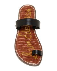 Sam Edelman Black Gabi Leather Sandal
