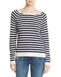 LOMA   Blue Violet Stripe Wool & Cashmere Sweater   Lyst