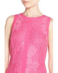 Adelyn Rae - Pink Lace Sheath Dress - Lyst