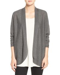 Eileen Fisher | Gray Blend Oval Cardigan | Lyst