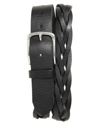 Caputo & Co. | Black Braided Leather Belt for Men | Lyst