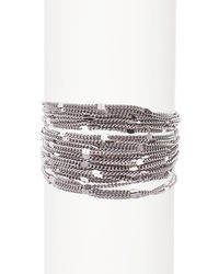 Savvy Cie Jewels - White Multi Chain Bracelet - Lyst