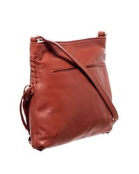 Foley + Corinna Red Cable Leather Bucket Bag