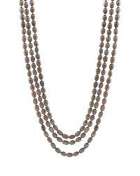 Splendid - 5-6mm Black Freshwater Pearl Endless Necklace - Lyst