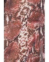 The Kooples | Red Python Print Chiffon Top | Lyst