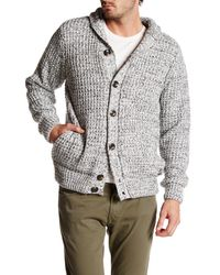 American Stitch Multicolor Faux Suede Elbow Patch Cardigan Sweater for men
