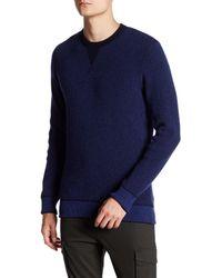 Benson Blue Crew Neck Sweater for men
