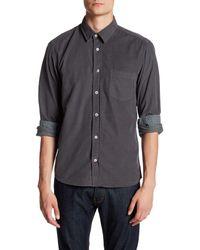 Benson Gray Solid Woven Shirt for men