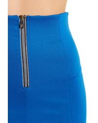 Versace Blue Pleated Circle Skirt