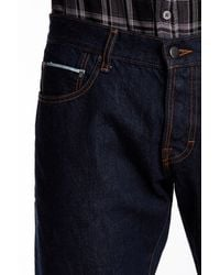 Gilded Age | Blue Distressed Straight Fit Selvedge Jeans for Men | Lyst