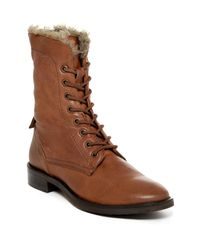 Seychelles | Brown Geode Faux Fur Lined Lace-up Boot | Lyst