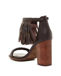 MIA Brown Cristie Block Heel Sandal
