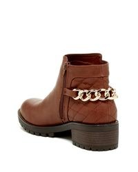 G by Guess - Brown Pearl Bootie - Lyst